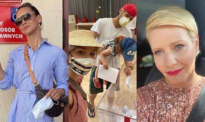 Wybory prezydenckie 2020: Gwiazdy pozowały w lokalach wyborczych. Kożuchowska ubrała się jak na rewię mody!