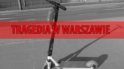 Warszawa: śmiertelny wypadek na elektrycznej hulajnodze. Jechała nią 23-latka z 26-latkiem