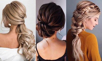 20 fryzur na wesele dla włosów długich i półdługich! [GALERIA]