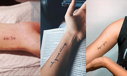 Tatuaże napisy - kilkanaście wyjątkowych propozycji