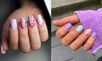 Fioletowy manicure to HIT - kilkanaście fantastycznych stylizacji