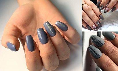 20 pomysłów na szary manicure w stylowych odsłonach [GALERIA]