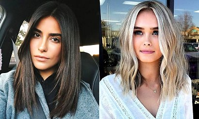 Fryzury dla włosów półdługich - kilkanaście modnych cięć dla brunetek i blondynek