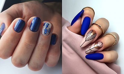 Granatowy manicure - 15 najlepszych propozycji