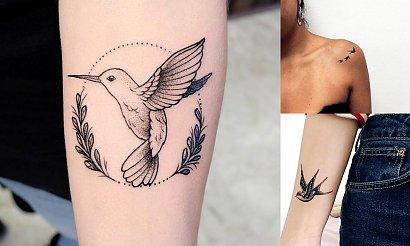 Tatuaże ptaki - kilkanaście dziewczęcych wzorów