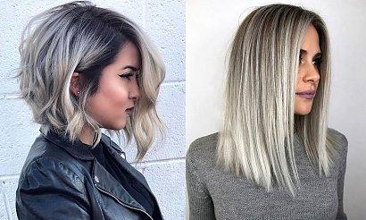 Popielaty blond - modne koloryzacje włosów na lato 2020