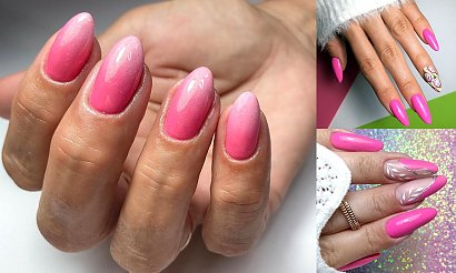 Różowy manicure hybrydowy - urocze i mega kobiece zdobienia