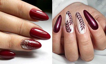 Bordowy manicure - 19 letnich propozycji