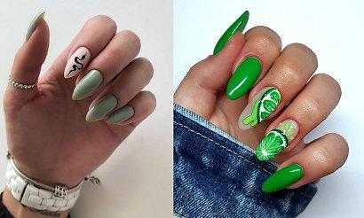 Zielony manicure - galeria najciekawszych zdobień