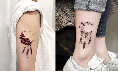 Tatuaż łapacz snów - kilkanaście najlepszych dziewczęcych wzorów