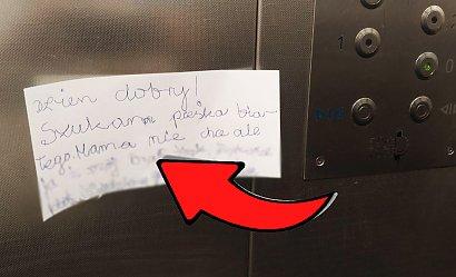"""Ogłoszenie chłopca, które zawisło w windzie, podbiło serca sąsiadów: """"Pomorze ktoś?"""""""