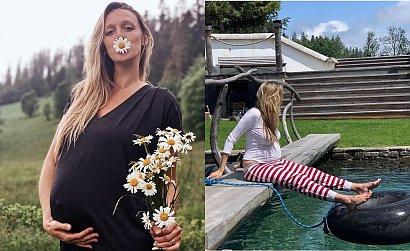 """Żona Michała Żebrowskiego pokazała się w bikini w 9 miesiącu ciąży"""" Matko bosko, jak Ci nie wstyd.."""" - piszą fani"""