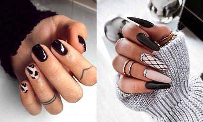 20 pomysłów na czarny manicure - galeria najlepszych stylizacji