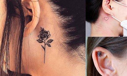 Tatuaż w okolicy ucha - przegląd oryginalnych wzorów