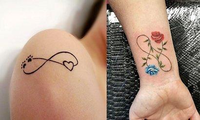 21 oryginalnych pomysłów na kobiecy tatuaż z symbolem nieskończoności [GALERIA]