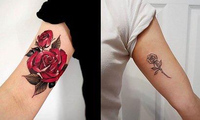 Tatuaż róża - top 30 mega kobiecych i ciekawych wzorów