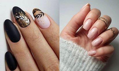 Złoty manicure - galeria stylowych inspiracji 2020