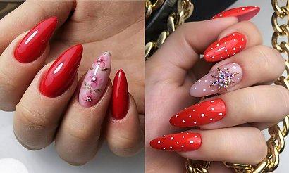 Czerwony manicure - 18 niezawodnych, ultrakobiecych zdobień