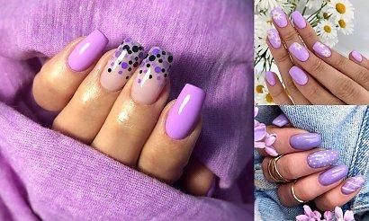 Fioletowy manicure HITEM lata 2020 - galeria najciekawszych inspiracji