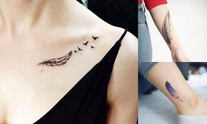 Tatuaż piórko - 23 propozycje dla kobiet