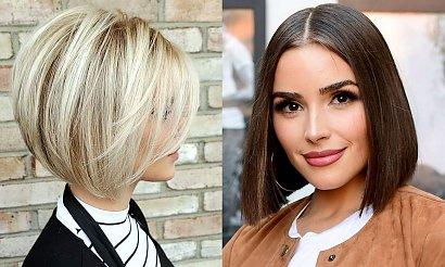 Włosy w pół szyi - katalog fryzjerskich trendów