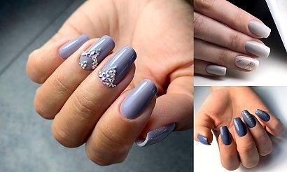 Ponadczasowy szary manicure - 21 pomysłowych stylizacji