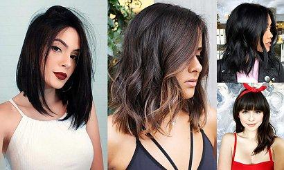 Półdługie cięcia dla brunetek i szatynek - 25 najnowszych trendów