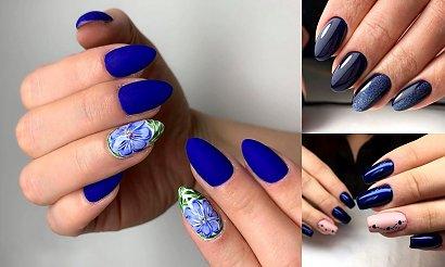 Granatowy manicure - 25 najciekawszych propozycji z sieci