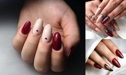 Bordowy manicure - 21 przepięknych stylizacji paznokci