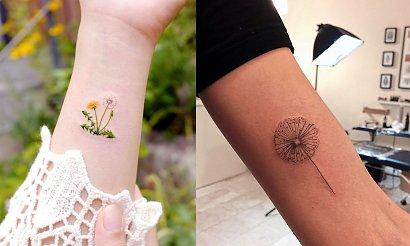 Tatuaż dmuchawiec - kilkanaście kobiecych wzorów
