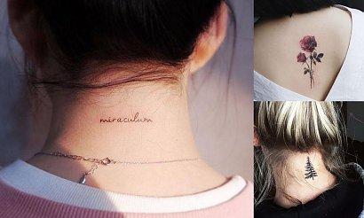 Tatuaż na karku - 18 rewelacyjnych wzorów dla kobiet