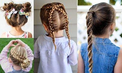 Fryzury dla dziewczynek - galeria ślicznych propozycji na uczesania z warkoczem i nie tylko