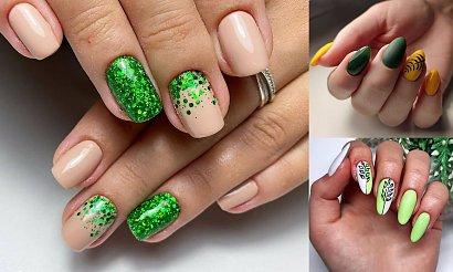 Zielony manicure - ponad 30 stylowych i ciekawych propozycji