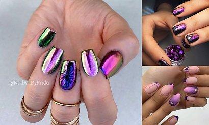 Fioletowy manicure na jesień 2020 - galeria najciekawszych inspiracji
