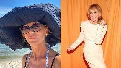 52-letnia Beata Ścibakówna pozuje w bikini na tle morza. Co za figura!
