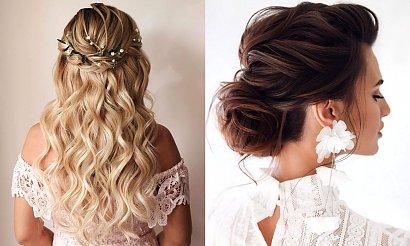 Fryzury ślubne - 21 najpiękniejszych fryzjerskich trendów