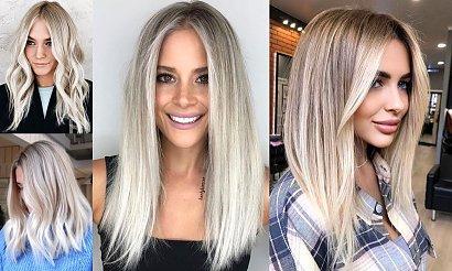 Popielaty blond - modna koloryzacja włosów na jesień 2020
