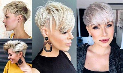 Fryzury pixie i undercut dla blondynek - kilkanaście trendów na jesień