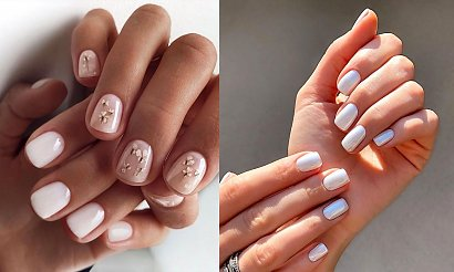 Biały manicure - 21 przepięknych i gustownych zdobień