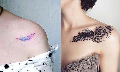 Tatuaż piórko - 17 kobiecych i ciekawych propozycji