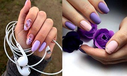 Fioletowy manicure na jesień - kilkanaście najciekawszych inspiracji