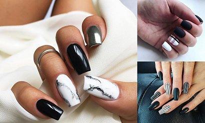 Czarno-biały manicure - kilkanaście nowoczesnych odsłon