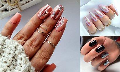 Manicure z dodatkiem brokatu - kilkanaście rewelacyjnych stylizacji