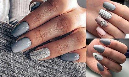 Ponadczasowy szary manicure - 16 rewelacyjnych stylizacji