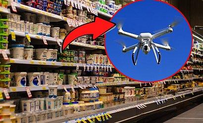 Zakupy z marketu można odebrać... dronami?! To brzmi jak scenariusz filmu o przyszłości!