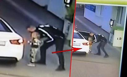 Szokujące nagranie ze stacji benzynowej: mężczyzna porwał małą dziewczynkę. Policja zaczęła poszukiwania