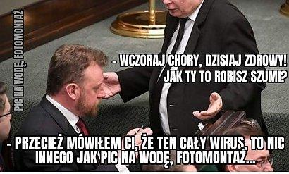 Łukasz Szumowski złapał koronawirusa. Internauci stworzyli memy