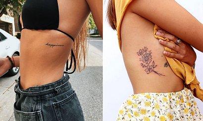 Tatuaże na żebrach - kilkanaście kobiecych wzorów