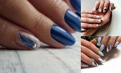 Manicure z piórkiem - 18 najciekawszych zdobień z sieci