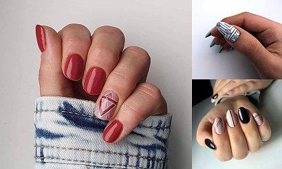 Geometryczny manicure - 19 stylowych propozycji